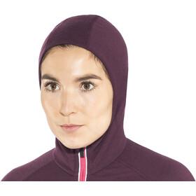 Icebreaker Quantum Chaqueta con capucha manga larga y cremallera Mujer, velvet-prism